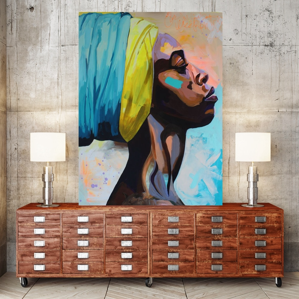 African American Portrait Wall Canvas Print