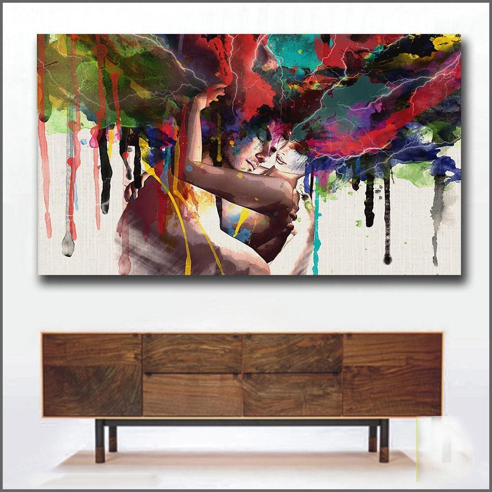 Man Woman Abstract Art Painting