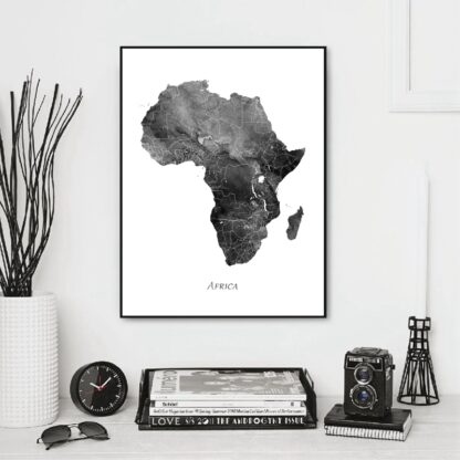 Black & White Map Of Africa