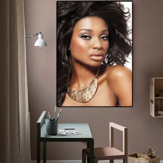 African Woman Portrait Canvas Poster