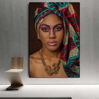 African Woman Indian Headband