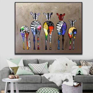 Abstract Zebras Canvas Print